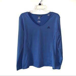 Adidas ClimaLite Periwinkle Long Sleeve Size Lg